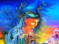 fantasy-undine-abstract-anime-beauty-clouds-colorful-fantasy-flowers