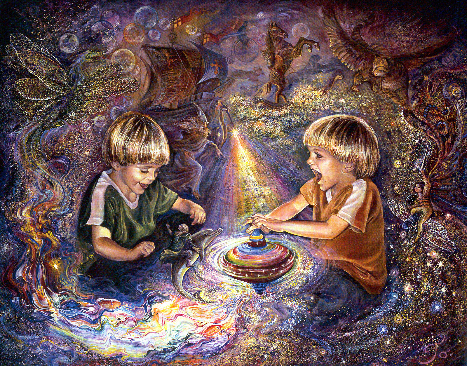 josephine_wall_children_the magic spinning top